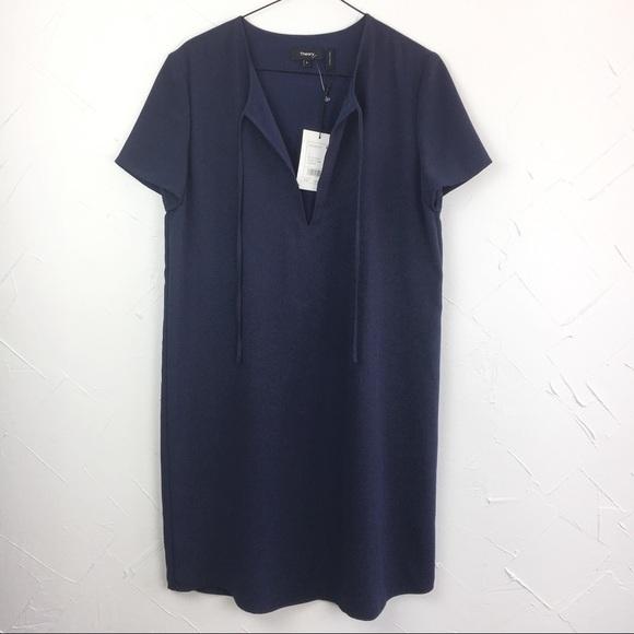 ffbd09f4adc Theory Dresses | Antazie Drapey Crepe Tie Front Dress 6 | Poshmark